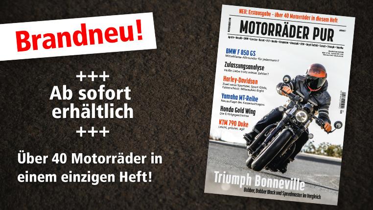 Erstausgabe: Motorräder PUR - über 40 Motorräder in einem Heft!