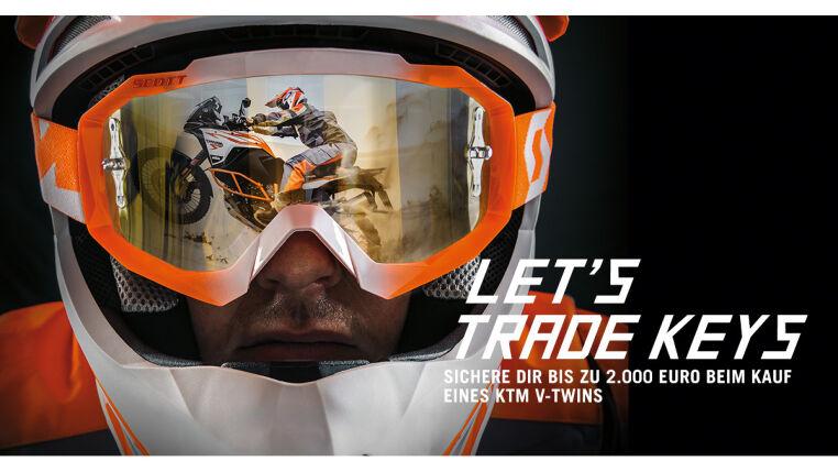 Jetzt wieder bis zu 2.000,-- Euro Eintauschprämie auf ausgewählte KTM V-Twin Modelle