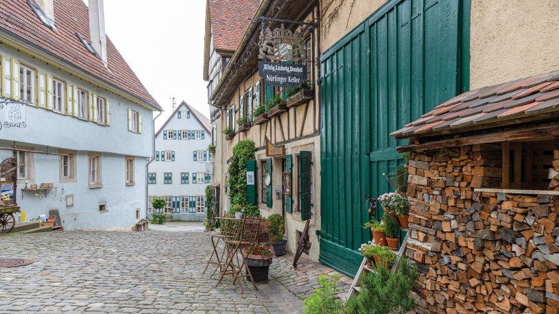 Die historische Altstadt der großen Kreisstadt Nürtingen