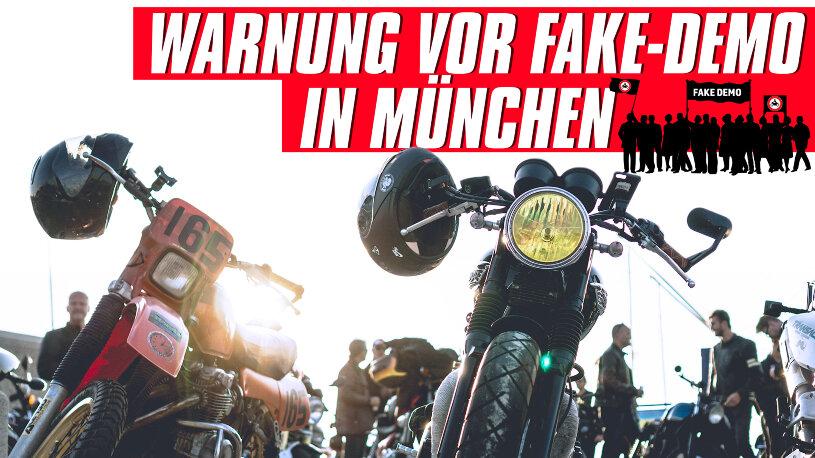 Die Motivation hinter der Motorrad-Demonstration am 17.10.2020 in München ist zweifelhaft.