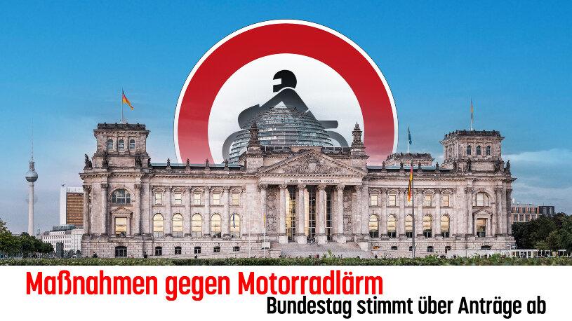 Der Beschluss des Bundesrates zur Minderung von Motorradlärm ist auf Bundestagsebene angekommen. Im Verkehrsausschuss hagelt es Kritik.