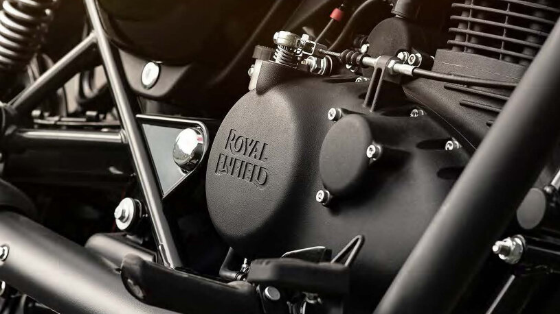 Der luftgekühle SOHC-Motor der Royal Enfield Meteor 350 ist eine Neuentwicklung.
