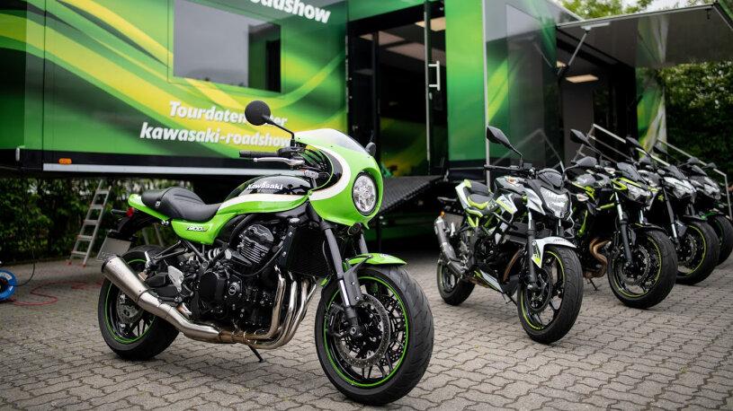 Kawasaki präsentiert neue Modelle live bei vielen Vertragspartnern