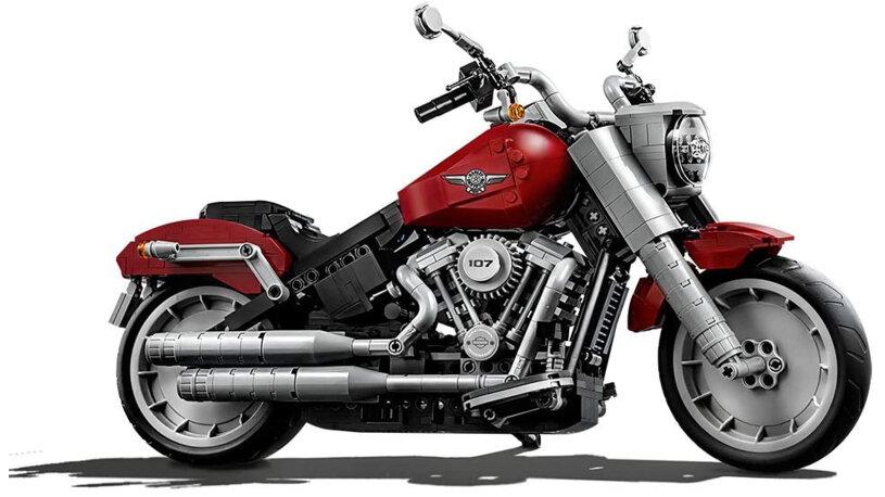 Harley-Davidson Motorrad aus Lego