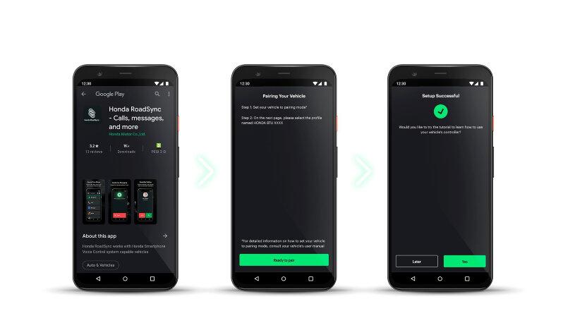 Hondas neues, maßgeschneidertes Konnektivitätssystem für Motorräder und Roller ermöglicht den Zugriff auf die meistgenutzten Funktionen Ihres Android™-Smartphones