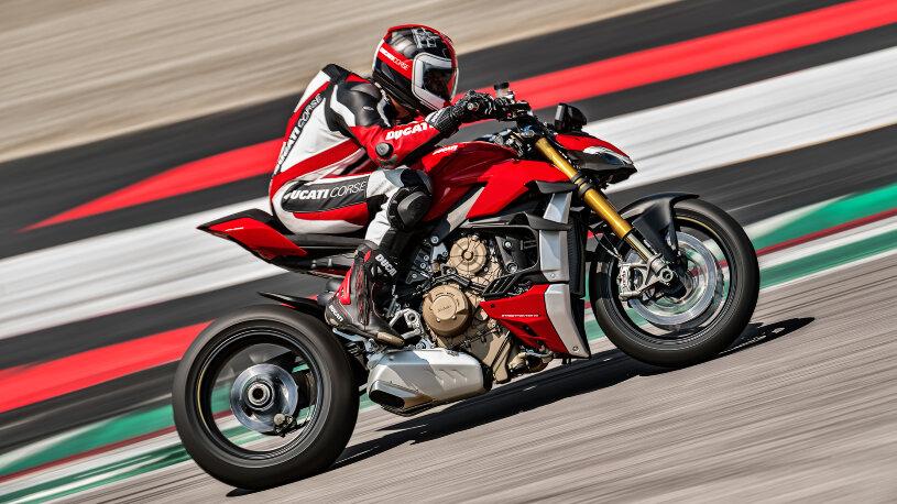 Die pfeilschnelle Ducati Streetfighter V4 basiert auf dem Supersportler Panigale.