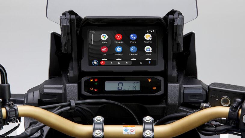 Android AutoTM wird nun auch in der Honda CRF1100L Africa Twin integriert.