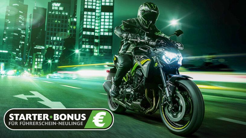 Kawasaki Programm für Führerscheinneulinge bis zu 800 Euro Starter-Bonus