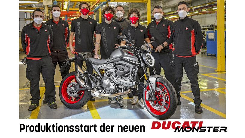 Die Produktion der neuen Ducati Monster 2021 ist angelaufen