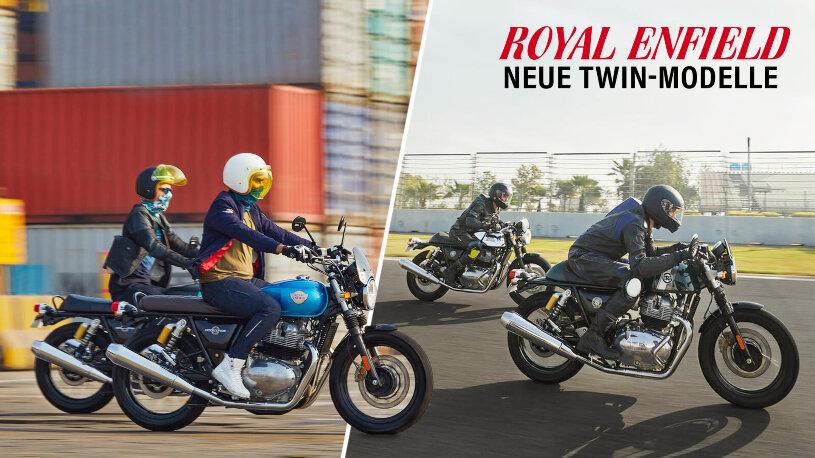 Royal Enfield führt die Euro 5 Twins mit neuen Farben ein