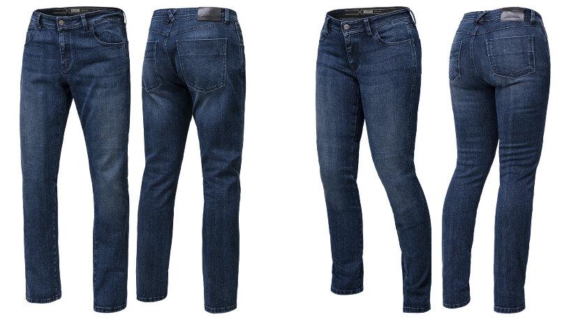 iXS Classic AR Jeans 1L Straight Vorder- und Rückansicht Männer und Frauen