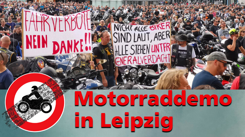 Motorrademo Leipzig