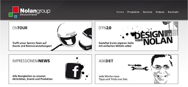 Nolangroup - Neuer Wind auf der Homepage